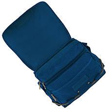 Сумка мессенджер синяя GOLDBE 37х27х15 брезент ксС102синб, фото 3
