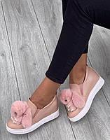 Кроссовки женские ( НА ФЛИСЕ )6 пар в ящике розового цвета 36-41, фото 5