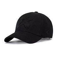 Кепка бейсболка Крестик, Черная Унисекс, фото 1