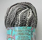 Пряжа ALIZE Romatika. Melange & Lurex. color 50886 (серый меланж), фото 2