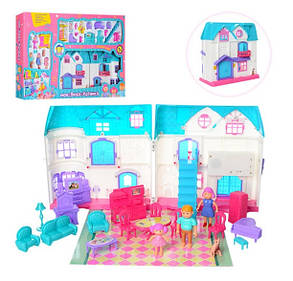 Домик для кукол 1205AB с мебелью и человечками, средний, звук, свет, фото 2