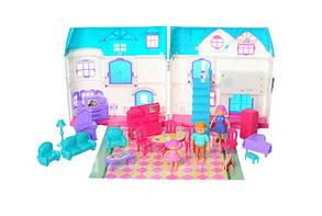 Домик для кукол 1205AB с мебелью и человечками, средний, звук, свет, фото 3