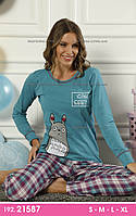 Женские пижамы с длинным рукавом и брюками новая коллекция, р-р L