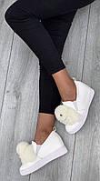 Кроссовки женские ( НА ФЛИСЕ ) 6 пар в ящике белого цвета 36-41, фото 4