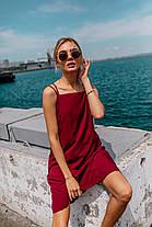 Летнее платье (цвет - бордо, ткань - софт) Размер S, M, L (розница и опт)