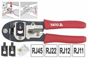 Інструмент для обтиску і зачистки проводів (для телефону) 195мм YATO (YT-2244)