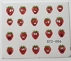 Наклейка для ногтей STZ-006