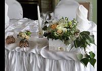 Свадебное оформление зала. Бело-персиковая свадьба.