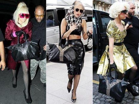 Леди Гага с сумкой YSL Easy