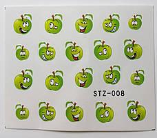 Наклейка для ногтей STZ-008