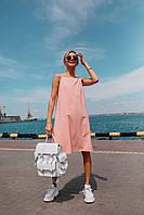 Летнее нежное платье (цвет - пудра, ткань - софт) Размер S, M, L (розница и опт), фото 1