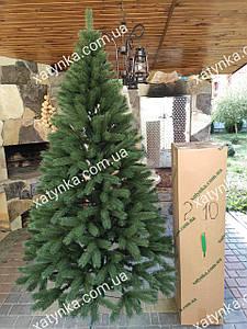 Литая елка Буковельская  2.10м. зеленая    // Лита ялинка / Ель искусственная пластиковая