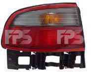 Ліхтар задній для Toyota Carina E седан '92-97 правий (DEPO) зовнішній, біло-червоний