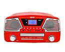 Музыкальный проигрыватель-грамофон Camry CR 1134 r - ГРАМПЛАСТИНКИ /CD /MP3 / USB/ SD, фото 4