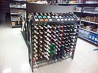 Стойка металлическая для вина, винный стеллаж с ячейками на 132 бутылки