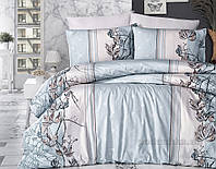 Постельное белье First choice ранфорс Arnica mint Двуспальный евро комплект