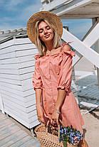 Платье лянное (цвет - пудра, ткань - софт) Размер S, M, L (розница и опт)
