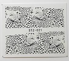 Наклейка для ногтей STZ-021