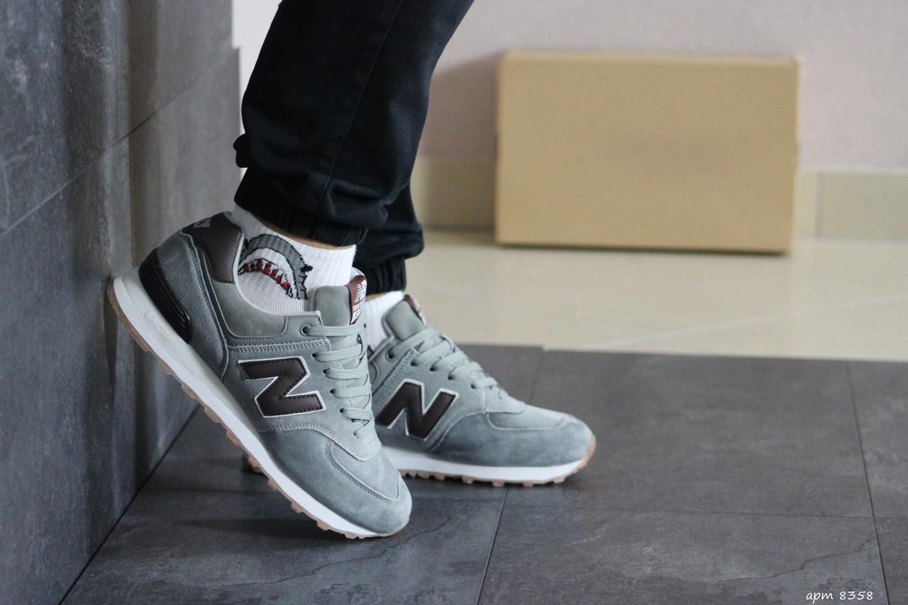 Мужские кроссовки New Balance 574 (серо-коричневые)