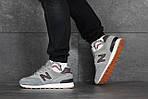 Мужские кроссовки New Balance 574 (серо-коричневые), фото 3