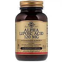 Альфа-липоевая кислота, Alpha Lipoic Acid,  Solgar, 120 мг, 60 капсул