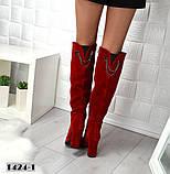 8 цветов! Шикарные демисезонные ботфорты на каблуке с декором сзади, фото 3