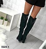 8 цветов! Шикарные демисезонные ботфорты на каблуке с декором сзади, фото 5