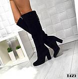8 цветов! Шикарные демисезонные ботфорты на каблуке с декором сзади, фото 7