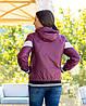 Жіноча осіння куртка вітровка на синтепоні з капюшоном, фото 7