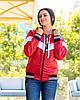 Жіноча осіння куртка вітровка на синтепоні з капюшоном, фото 9