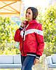 Жіноча осіння куртка вітровка на синтепоні з капюшоном, фото 10