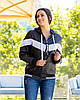 Жіноча осіння куртка вітровка на синтепоні з капюшоном, фото 2