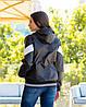 Жіноча осіння куртка вітровка на синтепоні з капюшоном, фото 3