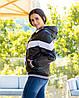 Жіноча осіння куртка вітровка на синтепоні з капюшоном, фото 4