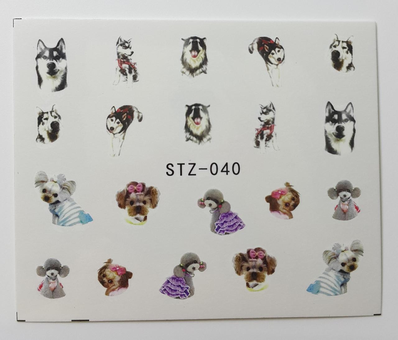 Наклейка для нігтів STZ-040
