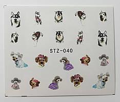 Наклейка для ногтей STZ-040