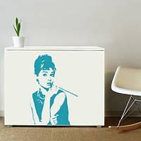 Наклейка виниловая  Audrey Hepburn Одри Хепберн