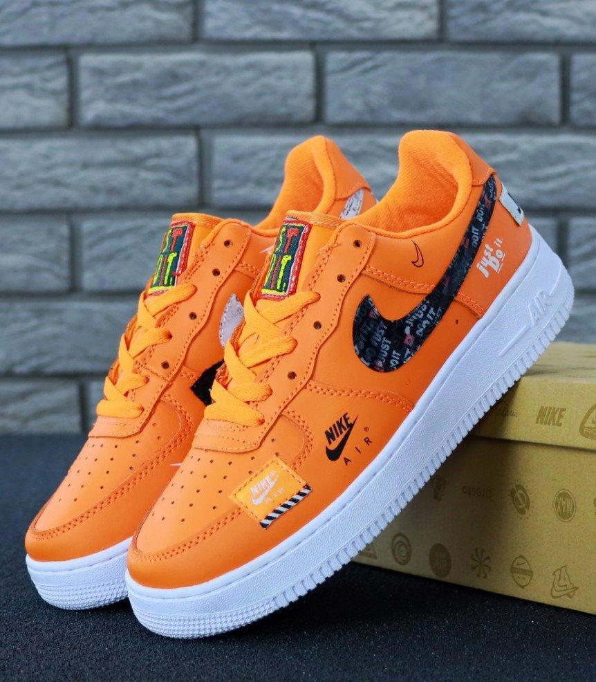 Мужские кроссовки Nike Air Force 1 Low Just Do It Orange