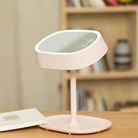 Макияжное зеркало + настольная лампа 2 в 1 - розовое Fox, фото 1