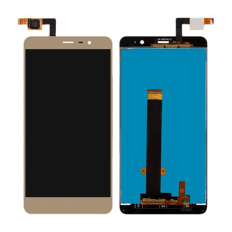 Дисплей и сенсор (модуль) на Xiaomi Redmi Note 3, 3 Pro, 3 Pro Prime золотой (146mm)