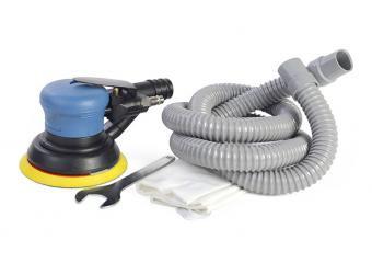 Пневматическая шлифовальная машинка эксцентриковая с пылесборником Miol 81-647 150мм