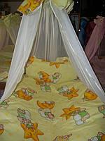 """Детское постельное белье """"Мишки на звездочке"""" желтый, комплект 9 предметов!, фото 1"""