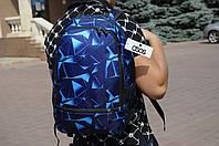Рюкзак ASOS асос мужской с принтом синие ромбы