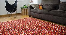 Прямокутні килими з повстяних кульок