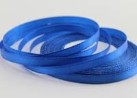 Лента атласная 0,6 см. 23 м.   синяя