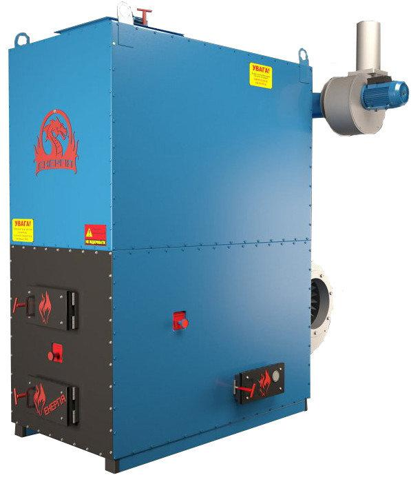 Теплогенератор потужністю 1500кВт з автоматичною подачею топлива.