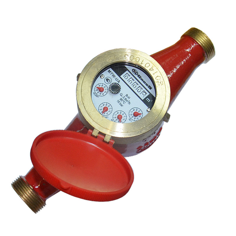 Счётчик водяной GROSS MTK(W)-UA 25 R80 без сгонов для горячей воды