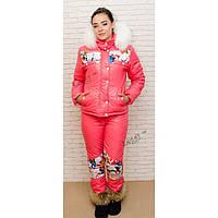 Женский зимний спортивный термокостюм, куртка уточка