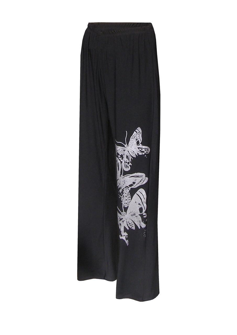 Модные брюки на резинке Бабочки