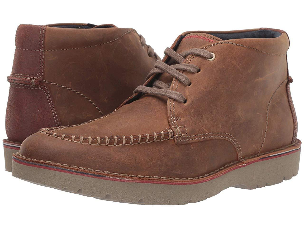 Ботинки/Сапоги (Оригинал) Clarks Vargo Apron Dark Tan Leather